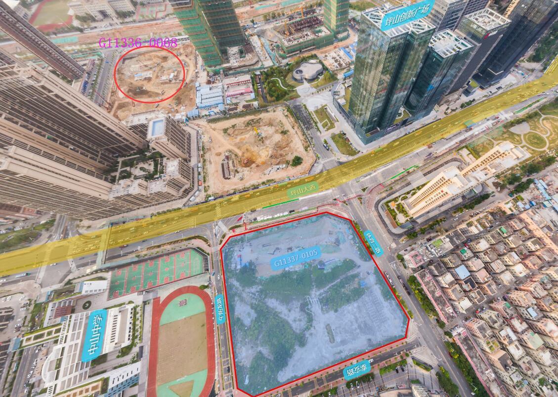 """华侨城23.34亿竞得坪山商用地 将与世茂组成300米+""""双子塔"""""""