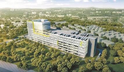 龙华首座全自动立体综合车场开工