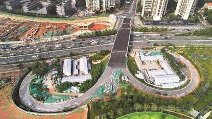 沙河西路快速化改造年内完工