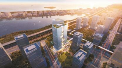 湾区产业投资大厦项目昨破土动工