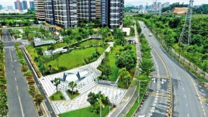 光明高铁绿廊公园(华强片区)建成开放